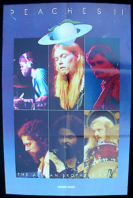 The ALLAMAN BROTHERS BAND Peaches II 1975 US ORG Promo POSTER For Unreleased LP