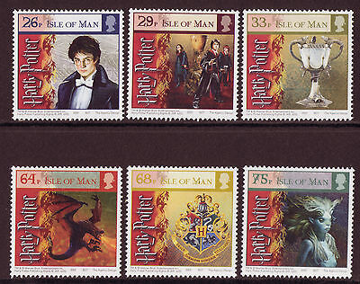 Isle Of Man 2005 Harry Potter Goblet Of Fire Set 6 Unmounted Mint, Mnh