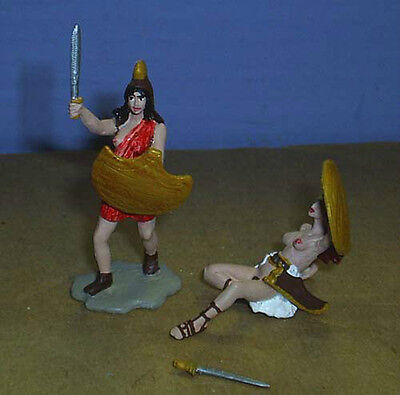 TOY SOLDIERS METAL ANCIENT AMAZON WOMEN 54MM