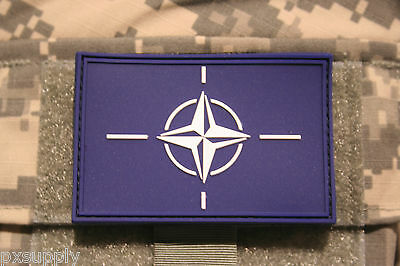 "tactical nato flag patch pvc hook and loop backing otan tactical 3"" x 2"""