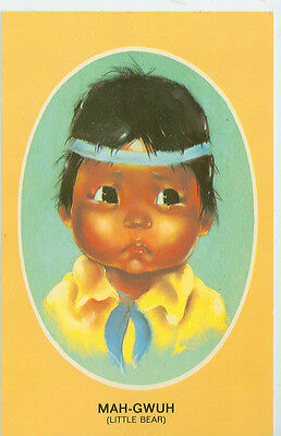 MAH-GWUH-LITTLE BEAR-CHILDREN OF THE NORTH-AUDREY YOUNG OPPEL-(INDIAN-96)
