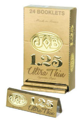 "24 Job Ultra Thin Gold 1.25"" Cigarette Rolling Papers"