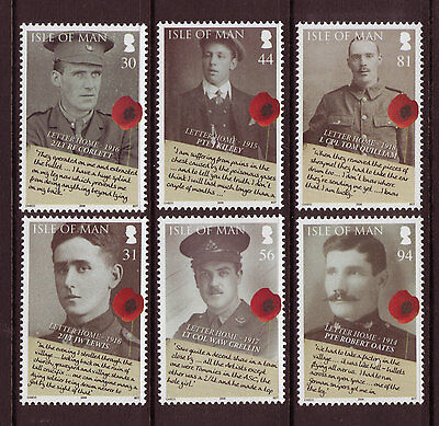 ISLE OF MAN 2008,90th ANNIVERSARY OF END OF WORLD WAR 1,  UNMOUNTED MINT, MNH