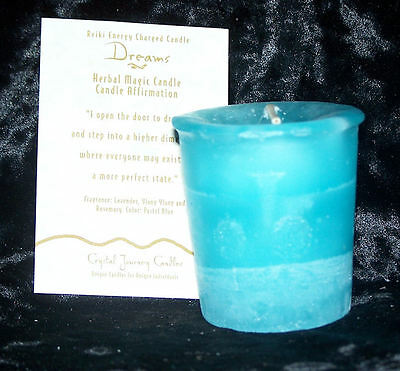 DREAMS REIKI candles Crystal Journey CANDLES Herbal MAGIC votives candle MAGICK