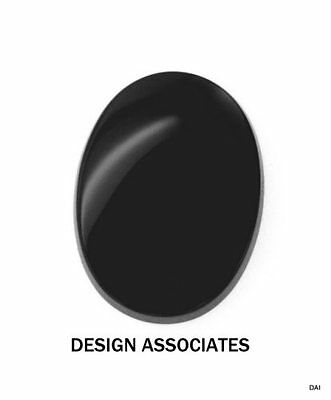 20x15 MM OVAL  NATURAL BLACK ONYX  ALL NATURAL AAA FLAT CAB
