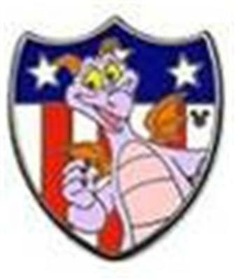 FIGMENT PATRIOTIC CHARACTERS HIDDEN MICKEY USA FLAG Disney Pin 2013