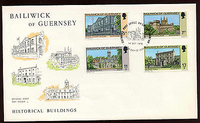 Guernsey 1976 Historical Buildings FDC #C11890