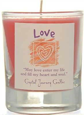 Reiki charged LOVE Herbal Magic SOY Candle MAGICK Crystal Journey Candles Wicca
