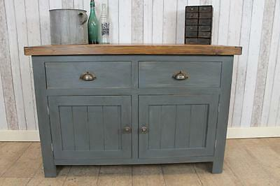 5Ft Vintage Industrial Style Toolmakers Work Bench Cabinet In Distressed Finish
