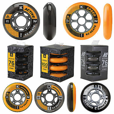 K2 Fitness Inline Skate Rolls Set Pack Of 4 Spare wheels various Sizes New