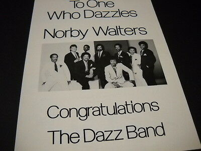 DAZZ BAND Dazzles NORBY WALTERS 1983 Promo Display Ad mint condition