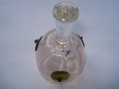 Vintage Pale Pink And Olive Green Vaseline Glass Table/hand Bell