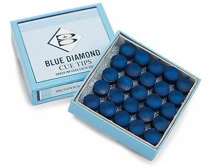 Blue Diamond From Brunswick Cue Tips Available In Various Sizes And Quantities