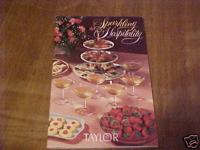 1961 BAR GUIDE RECIPES BY TAYLOR WINES