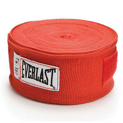 """Everlast Boxing Hand Wraps Wrist Protection 180"""" Red - Pair"""