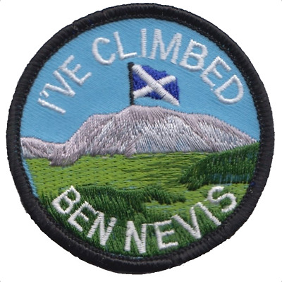 I've Climbed Ben Nevis Scotland Flag Embroidered Patch Badge