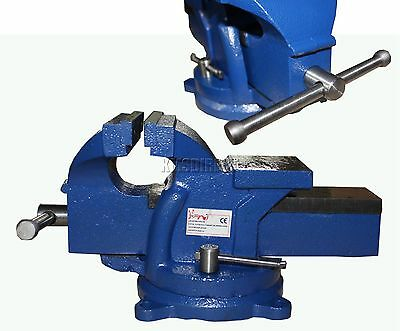 FoxHunter Swivel Base Bench Vice Vise Jaw Clamp for Workbench Table Garage Tool