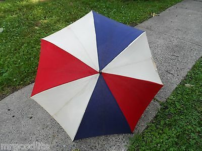 Old 1940's 4th of July Patriotic Red White & Blue UMBRELLA - Xmas Tree Top