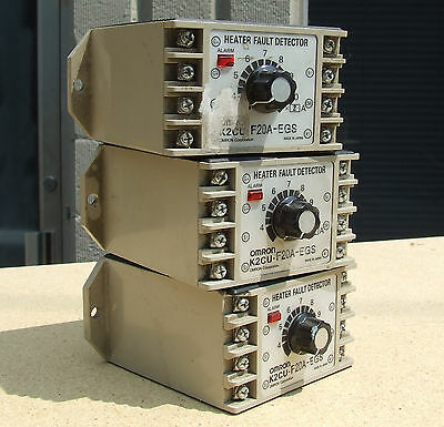 LOT SET of 3 Omron K2CU-F20A-EGS Heater Fault Detector Units with alarm f gs