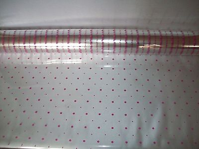 BABY PINK DOTS Cellophane Gift Wrap Film Birthday Baby Wedding Hampers presents