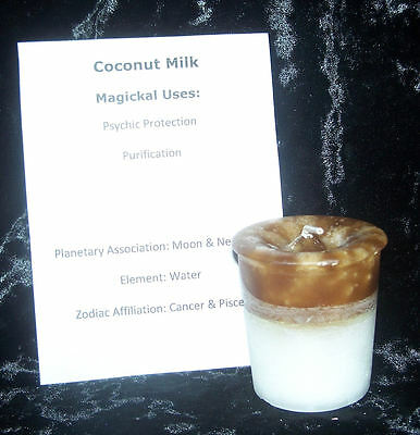 COCONUT MILK CRYSTAL JOURNEY Candles Manifestation candle PURIFICATION Psychic