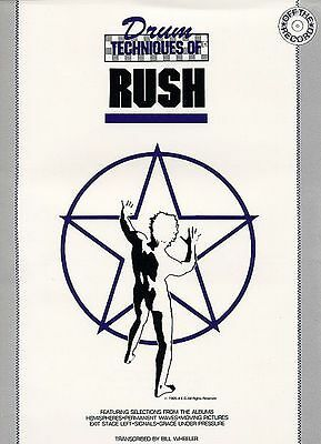 Rush - Neil Peart-  Drum Techniques Song Book Drums