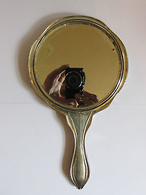 Large Antique Collectable Sterling Silver Hand Mirror By William Aitken - 1902