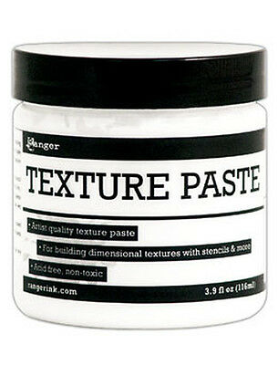 Ranger Texture Paste 3.9 oz Jar Use w/ Stencils & Palette Knife create 3D effect