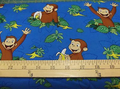 "1 yard Curious George ""George Hungry""  Fabric"