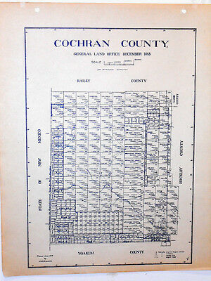 Old Cochran County Texas General Land Office Owner Map Morton Whiteface Bledsoe
