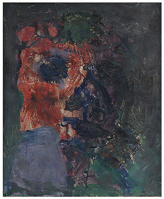 Unknown Unidentified European: Abstract 1988 / S/Oil Modernism French