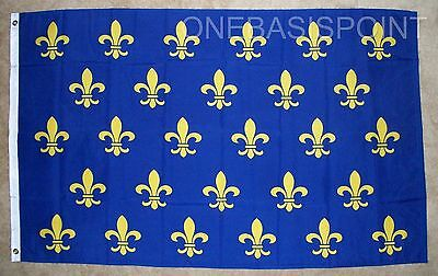3'x5' Fleur De Lis Flag French Cajun Creole Party Louisiana Banner France 3x5