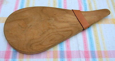 VINTAGE CHEESE CHOPPING  BREAD BOARD PLANK SERVER great shape! - KITCHENALIA