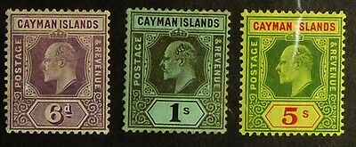 Stamps: Cayman Islands: SG# 30/32; MH, F-VF   (D206)