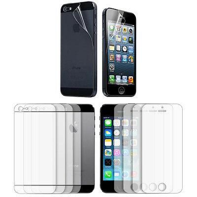 4X Anti-Scratch Clear Full Screen Protector Film Front and Back for iPhone 5S 5