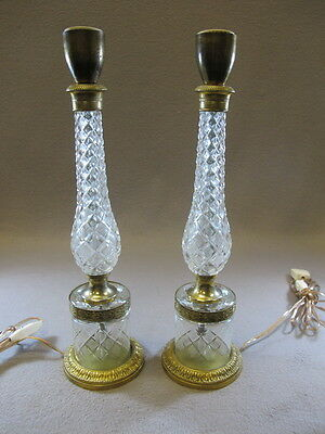 Pair of French Glass Lamps - 9391