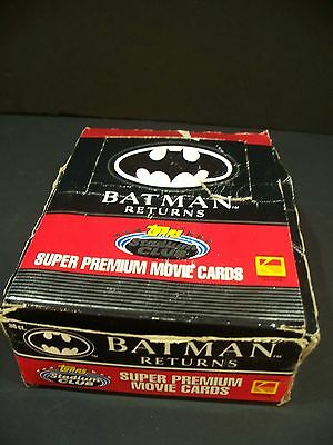 New Vintage 1991 Batman Returns Super Movie Collector Trading Cards Topps 36 Pks