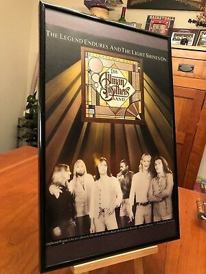 "1 BIG 11X17 FRAMED ALLMAN BROTHERS BAND LP ALBUM CD ""PROMO AD"" - choose from 8!"