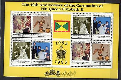 Gren Grenada 1993 Coronation 40th Anniv MNH Sheetlet