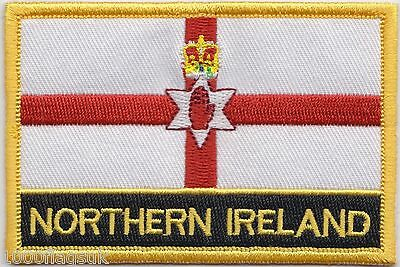 Northern Ireland Flag Embroidered Patch Badge - Sew or Iron on