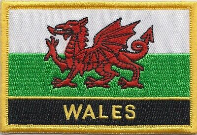 Wales Flag Embroidered Patch Badge - Sew or Iron on