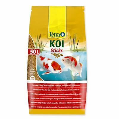 7.5kg 50 litre TETRA POND KOI STICKS FLOATING FISH FOOD DAILY SUMMER COLOUR DIET