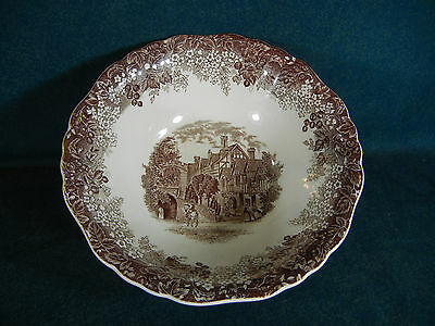 "J and G Meakin Warwick Romantic England 8 3/8"" Round Serving Bowl"
