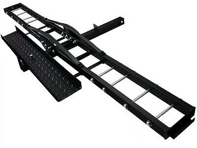 Heavy Duty Motorcycle Dirtbike Scooter Carrier Trailer Hitch Hauler loading Ramp