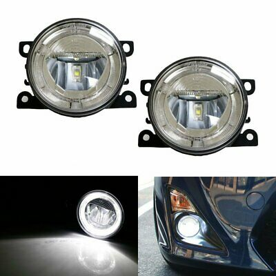 Direct Fit 20W CREE LED Fog Lamps w/ Halo Rings As Daytime Running DRL Lights