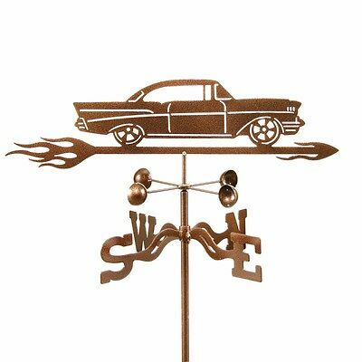 '57 Chevy Weathervane, 1957 Chevrolet Car Weather Vane with Choice of Mount