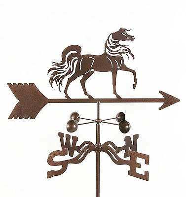 Antique Look - Arabian Stallion Horse Weathervane, Vane - With Choice of Mount