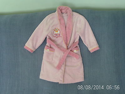 Girls 4-5 Years - Pink Fleece Dressing Gown - Upsy Daisy, Night Garden