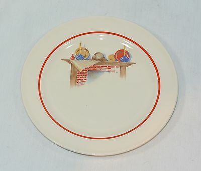 Edwin KNOWLES China FIREPLACE Mantle Bread Plate KNO466 6 1/4 inches