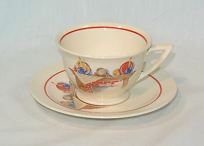 Edwin KNOWLES China FIREPLACE Mantle Cup and Saucer Set KNO466